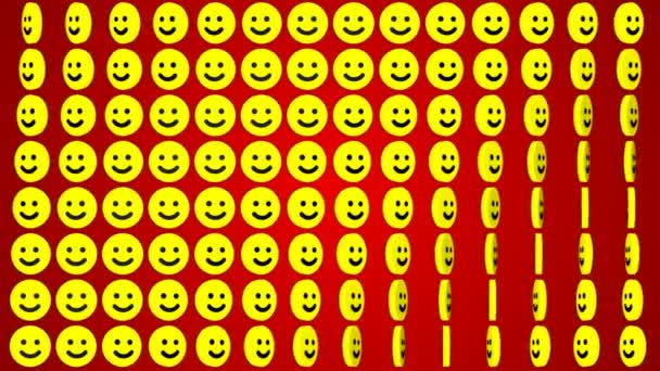 Smile happy red background rotating smiles