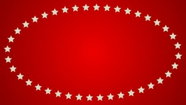 Hvězdy červené pozadí elipsa hraniční rám