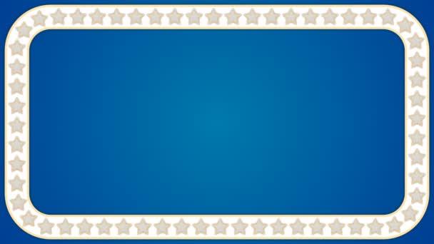 Csillag háttér kék téglalap határ test