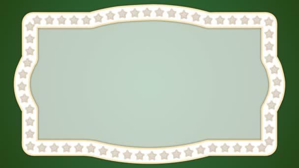 Hvězdy zelené pozadí vintage hraniční rám