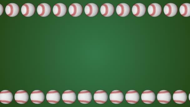 67adb1e427e7 Baseball ball american sport green border frame background pattern– stock  footage