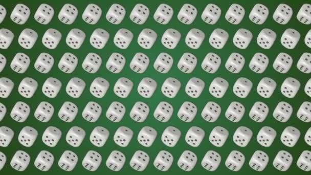 Kostky kostky casino gambling zelené pozadí
