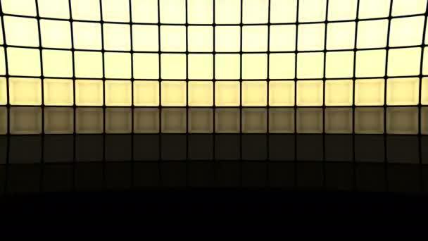 Světla blikají žárovky zdi vzor statické svislé červené fázi pozadí vj smyčka