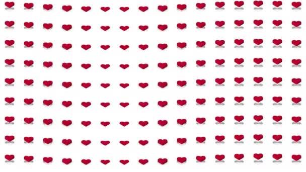 Romantický izometrické pozadí červené srdce vertikální vlna