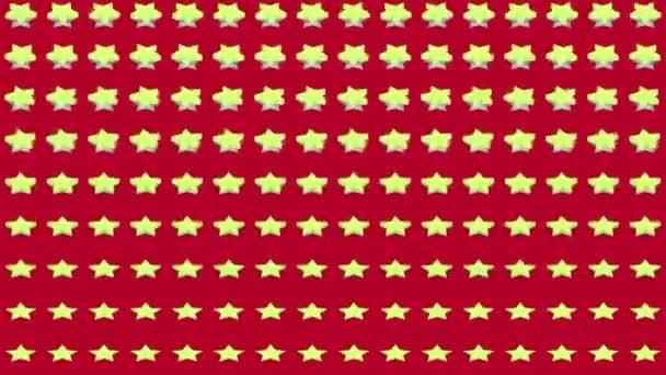 Abstraktní izometrické pozadí žluté hvězdy horizontální vlna