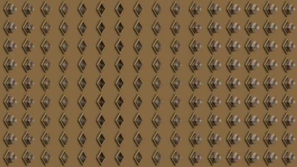 Abstraktní pozadí izometrické skleněné kostky tlačítka vertikální vlna