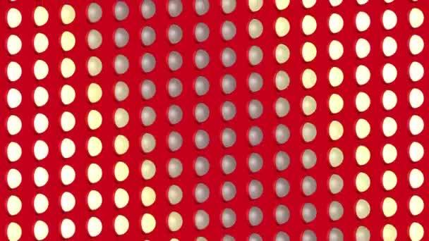 Absztrakt izometrikus háttérben fény izzók hullámok villogó mozgás