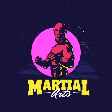 Modern professional mixed martial arts template logo design
