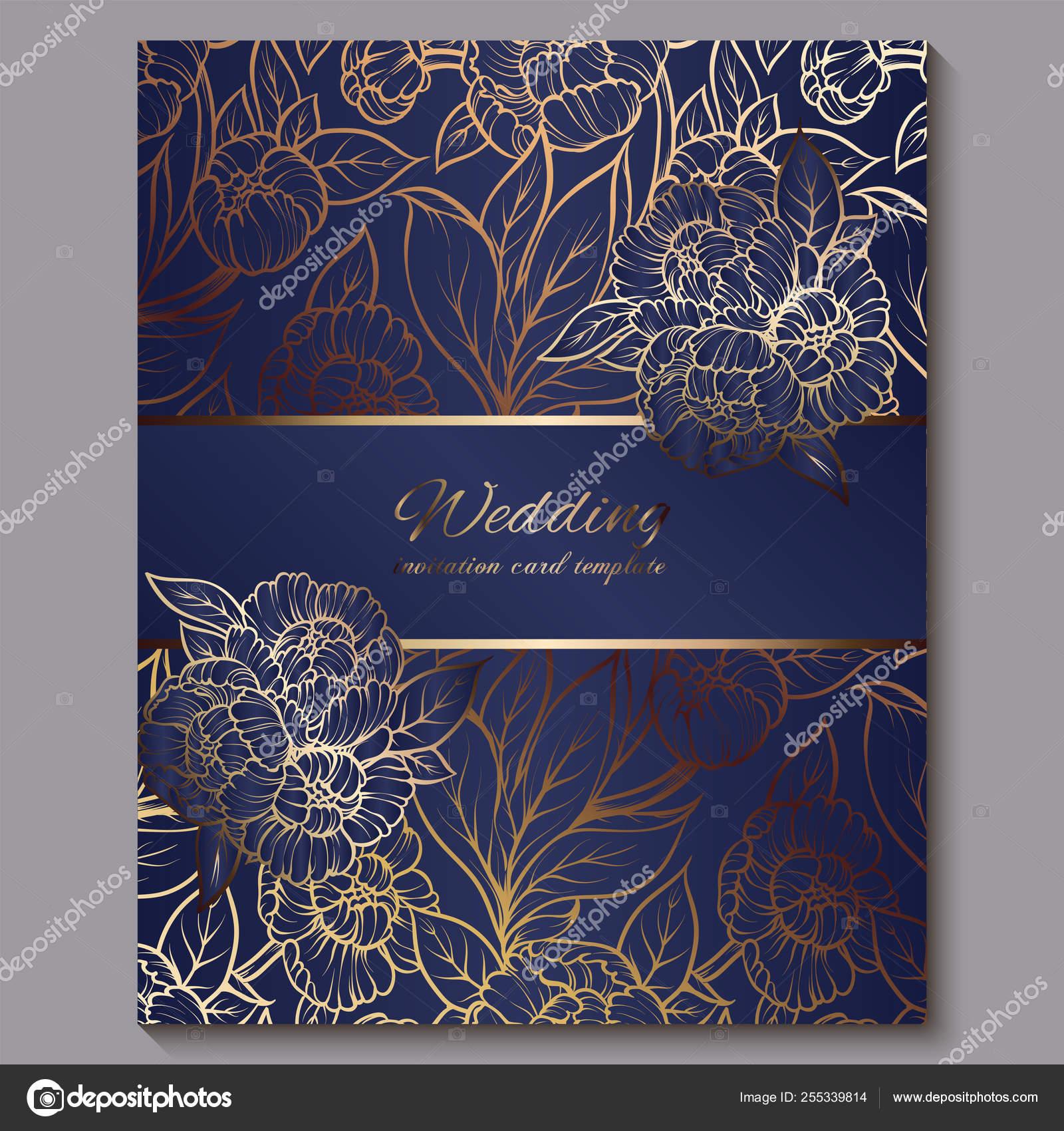 Wedding Invitations Royal Blue Exquisite Royal Luxury