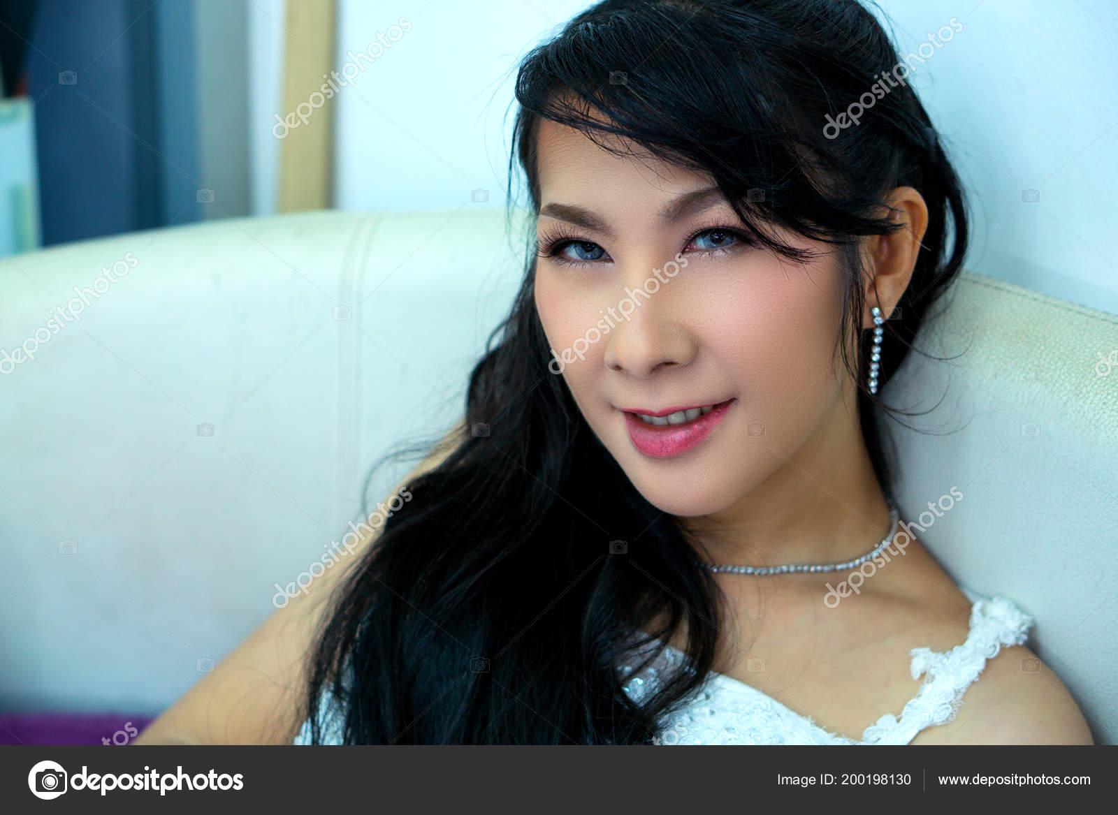 Irene Wearing Wedding Dress Pre Wedding Shooting She Choosing Chinese Stock Photo C Eltonmaxim 200198130,Mermaid Wedding Wedding Dresses No Sleeves