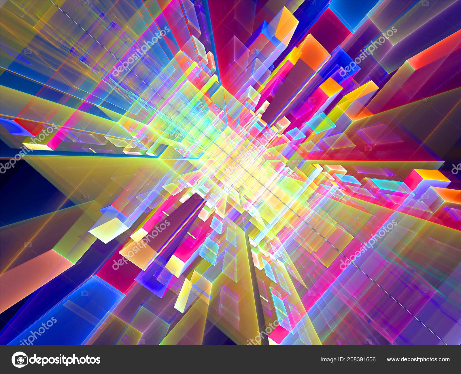Abstract Futuristic Colored Portal Digitally Generated