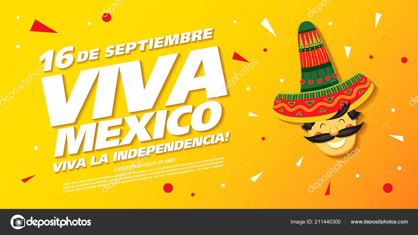 Viva Mexico Independence Day Colorful Poster — Stock Vector ...