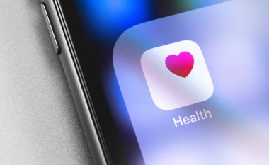 Apple iPhone with Apple Health app on the screen. Apple Inc. is