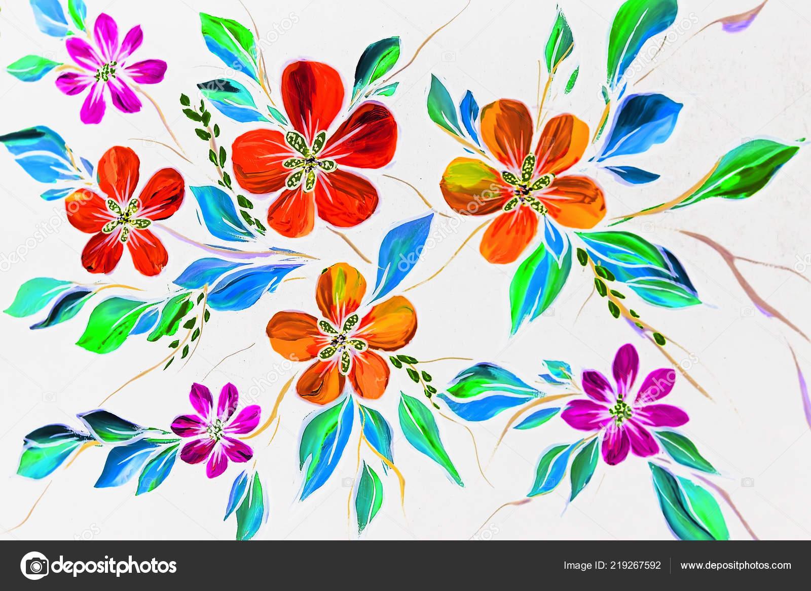 Siyah Zemin çiçek Illüstrasyon Yağlı Boya Izlenimcilik Stil çiçek