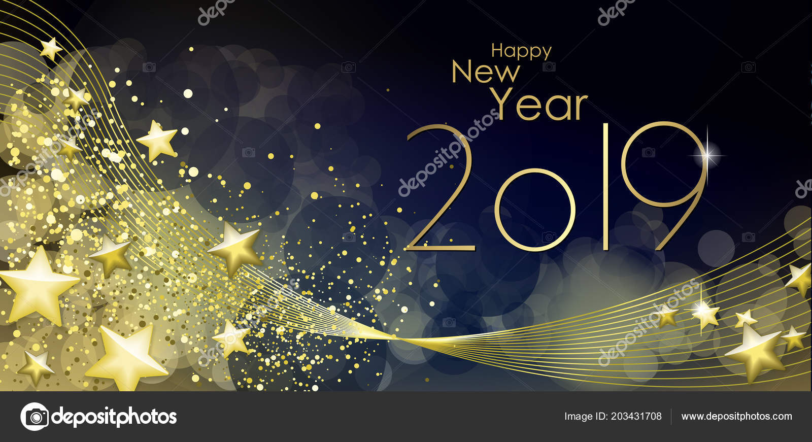 happy new year 2019 greetings card