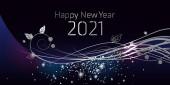 Šťastný Nový rok 2021 velké pohlednice ilustrace