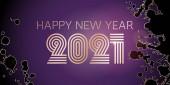 Frohes neues Jahr 2021 große Grußkarte Illustration