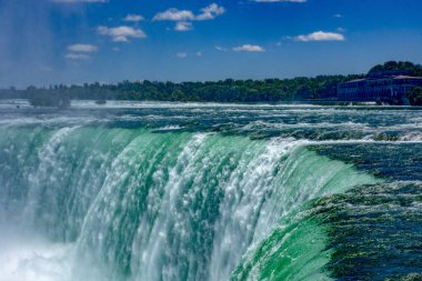 Niagara falls and blue sky