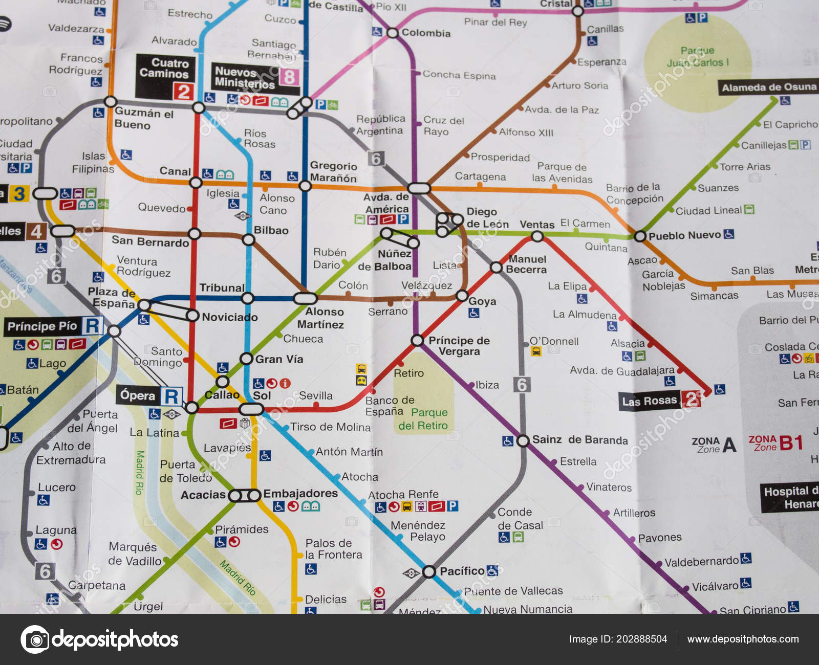 Mapa Metro Madrid 2018.Madrid Spain June 2018 Map Underground Madrid Stock