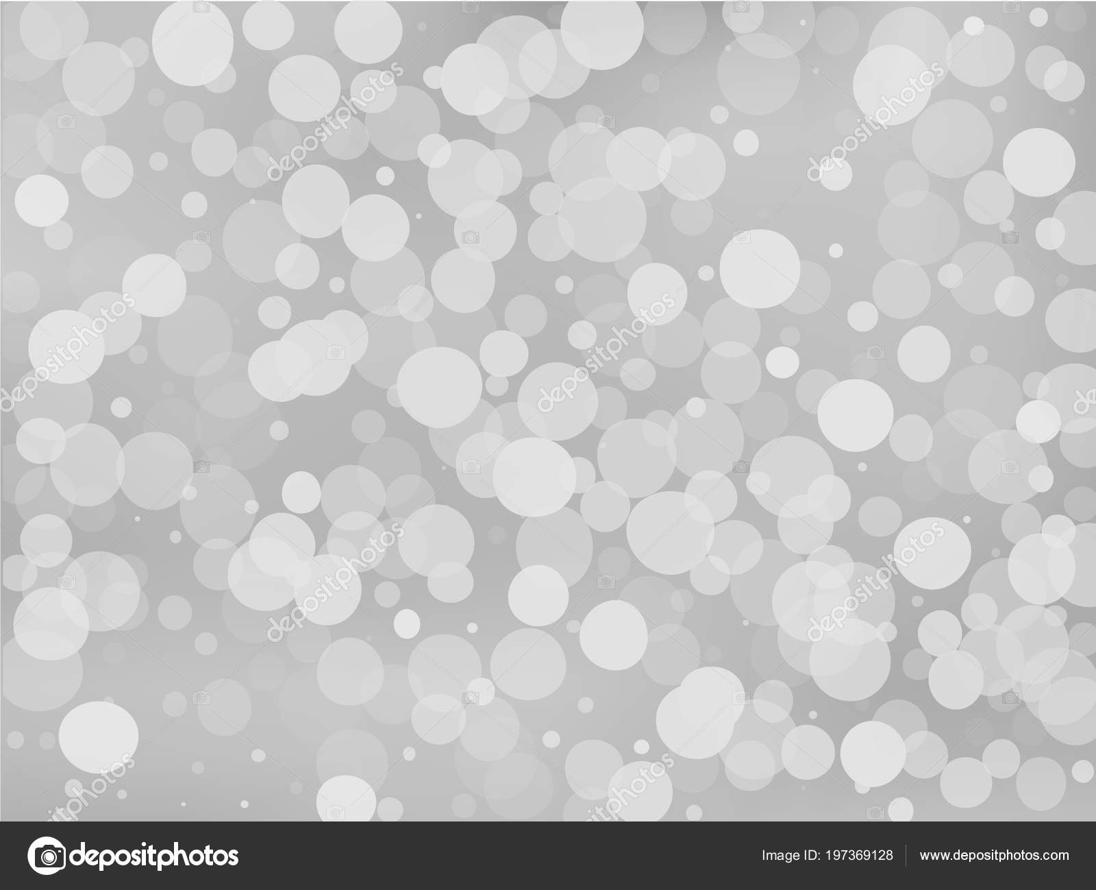 Gray White Gradient Background With Bokeh Effect Abstract Blurred Pattern Overlapping