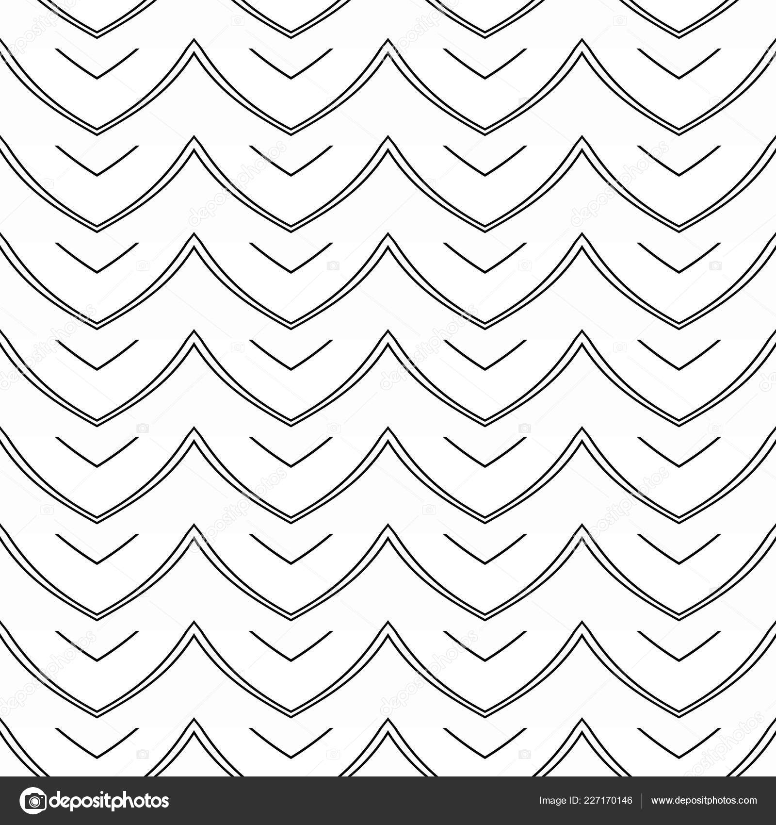 Black And White Geometric Background With Thin Lines Seamless