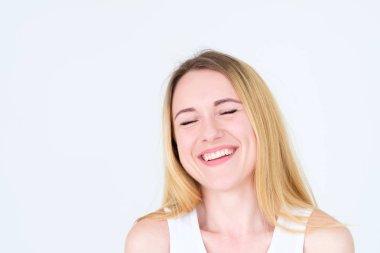 emotion face happy joy thrilled girl beaming smile