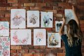 Fotografia studio dellarea di lavoro pittore arte disegno