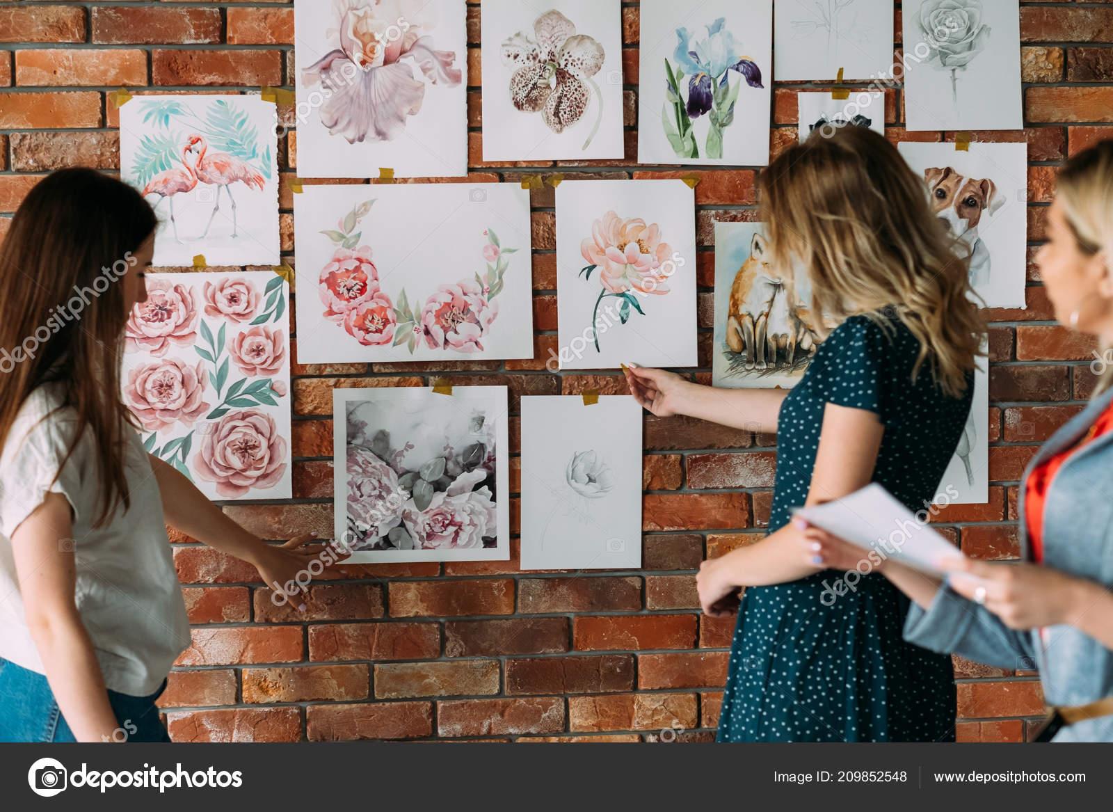 Malirske Kurzy Kresby Workshop Vyzdoba Kresba Stock Fotografie