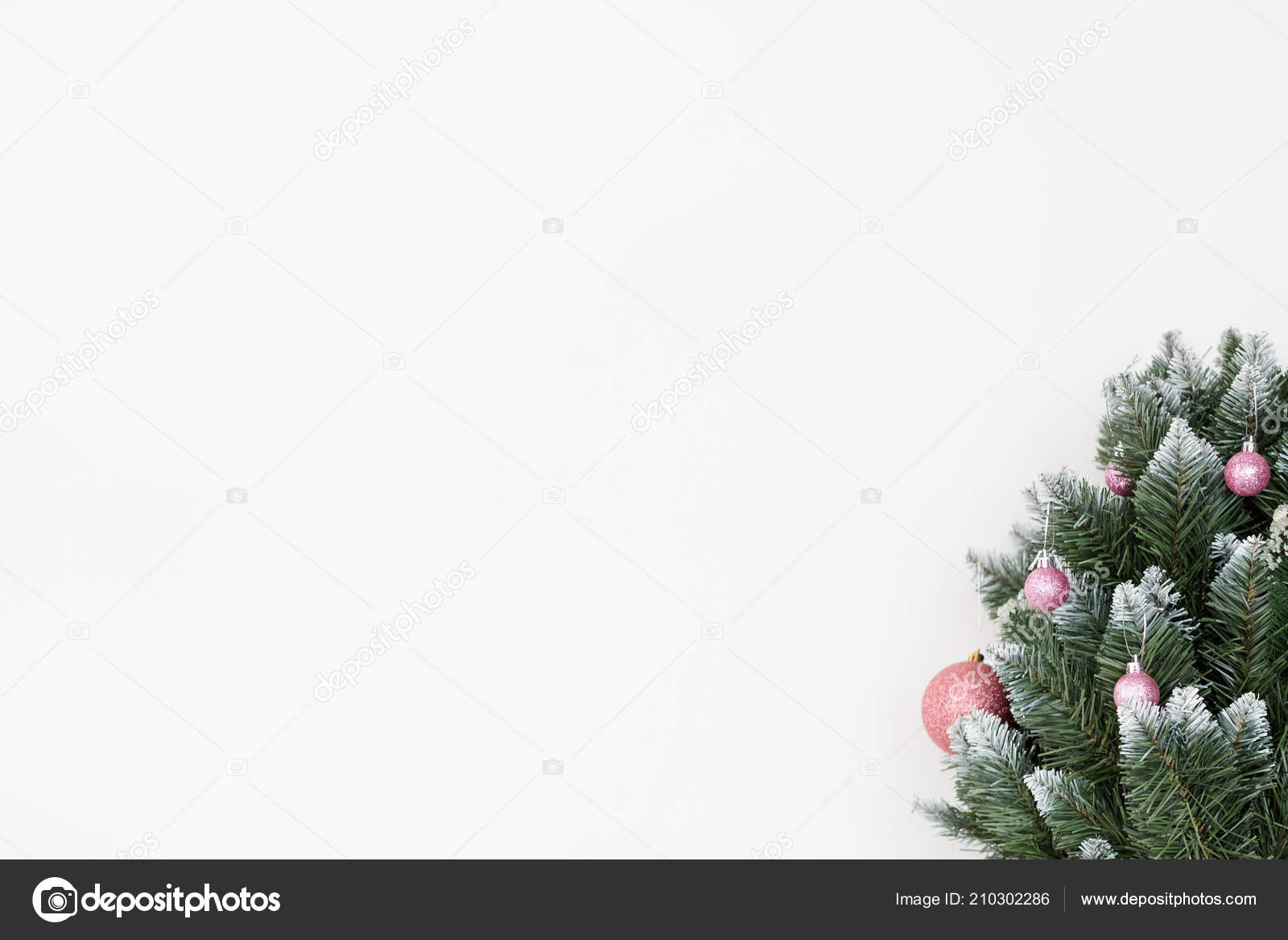 Christmas Holiday Festive Tree White Background Stock