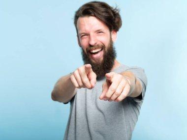 loser man mocking laugh point finger humiliation