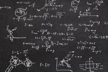 physics formula chalkboard kinematics calculation