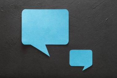 speech bubbles social media communication discus