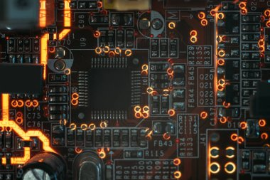 pcb microchip integrated component microelectronic