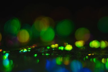 blur lens flare lights green bokeh circle glow