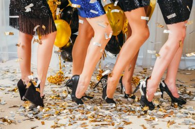 fancy cocktail party celebration girls confetti
