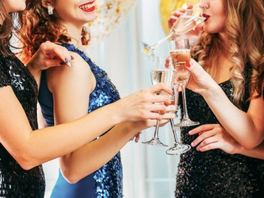 fancy party special occasion champagne girls