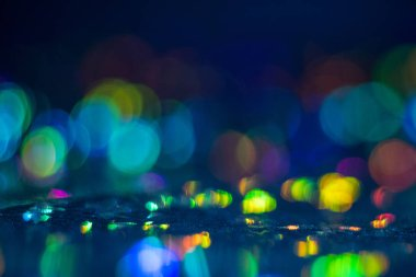 colorful bokeh circles lens flare illuminated glow
