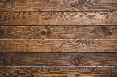 Brown timber wood. Rustic abstract background. Natural oak surface. Horizontal planks. Empty space. stock vector