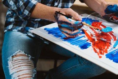 modern painter creative art working process