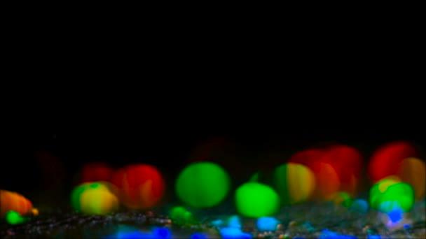 colorful lens flare multicolor circles sliding