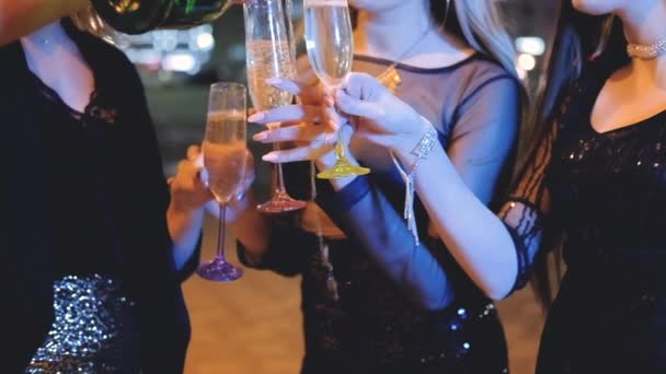 girls night out party celebration drink champagne
