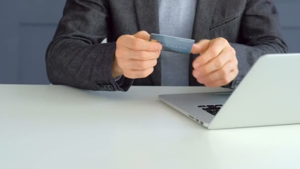 online shopping man buy internet laptop card