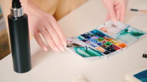 umělec pracovní plocha Malování krabice akvarel hobby