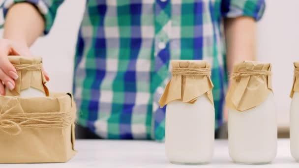 dairy products delivery milk bottles craft box