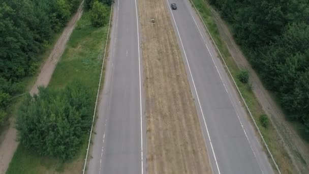 dálnice Venkovská krajina letecký výhled silniční automobily