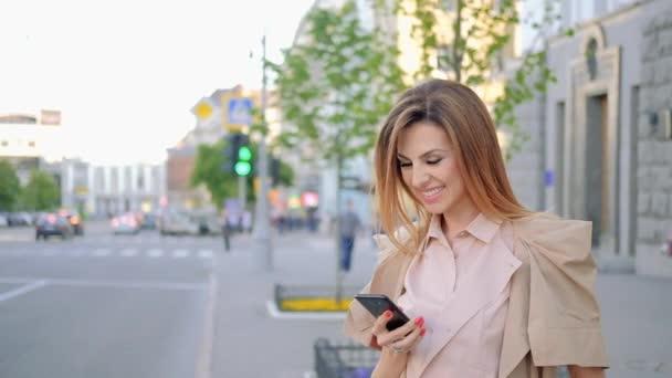 taking selfie woman photo city using mobile phone
