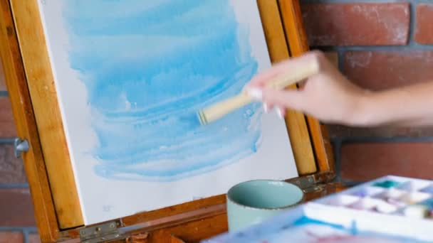 artist inspiration paint easel blue watercolor