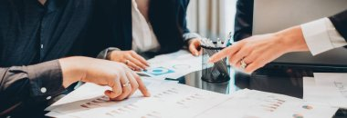teamwork brainstorming business partners graphs