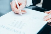 successful negotiation business woman contract