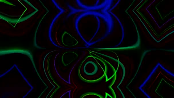 gleam motion acid kaleidoscope neon blue green